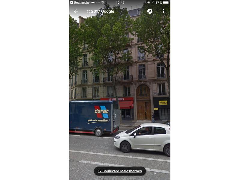 Location de parking - Paris 8 - 32 boulevard Malesherbes
